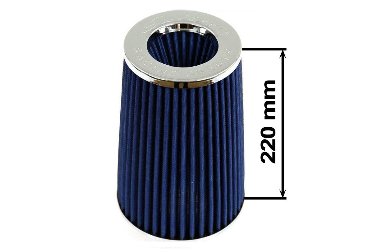 Filtr stożkowy SIMOTA JAUWS-022A 60-77mm Blue - GRUBYGARAGE - Sklep Tuningowy
